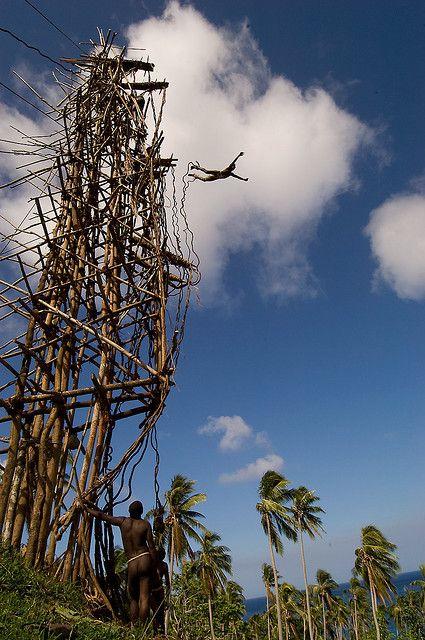 land diving on pentecost island vanuatu
