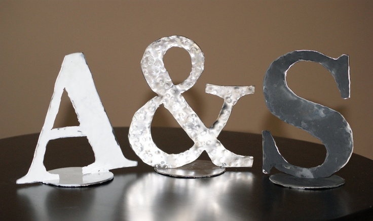 Metal initials ampersand for Ampersand decoration etsy