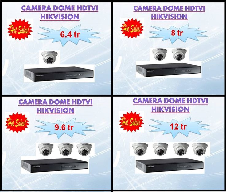 Gói sản phẩm camera HDTVI Hikvision