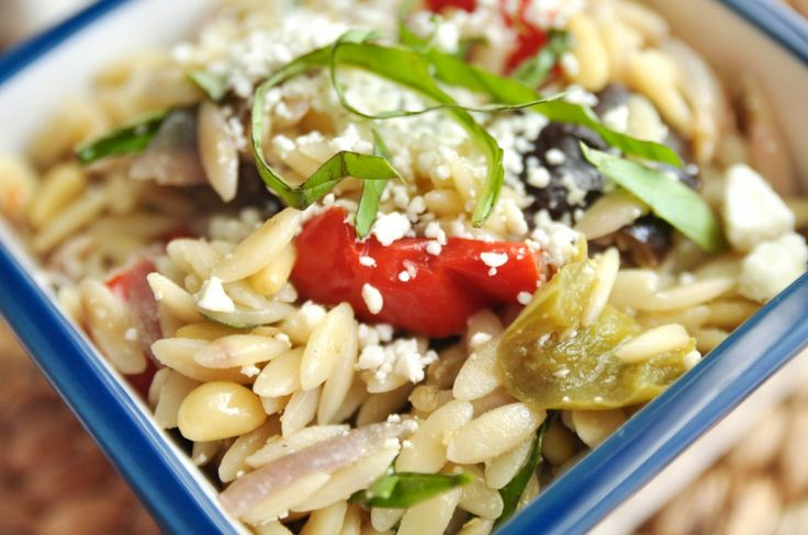Orzo with Roasted Vegetables | food envy | Pinterest