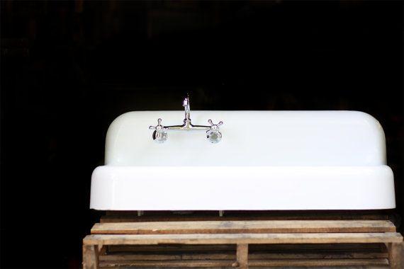 1935 High Back Drain Board Farmhouse Sink 6 Inch Apron 42 X 20 Refi…