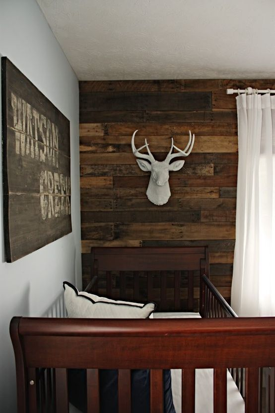 diy pallet accent wall.   For The Home   Pinterest