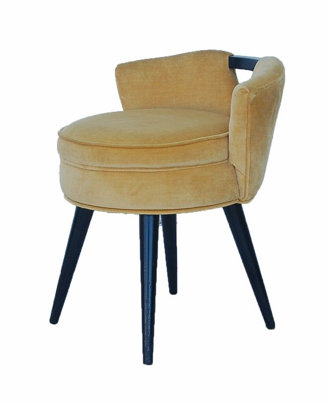 Mid century vanity stool v back mid century modern feel pinterest - Vanity stool with back ...