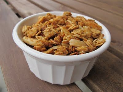 Peanut butter and honey granola- just whipped this up. It only took 5 ...