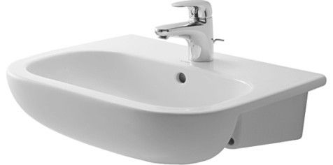 Low Profile Bathroom Sink : ... Code Semi-recessed washbasin - traditional - bathroom sinks - Duravit