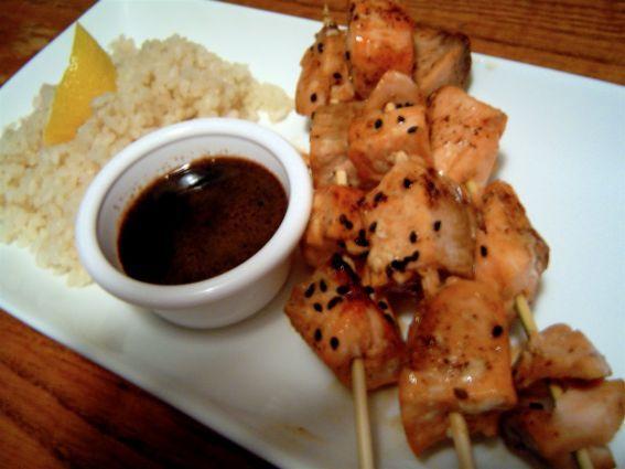 Black Honey Salmon Skewers & Citrus-Clove Rice Recipe