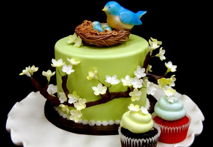 bird cake design