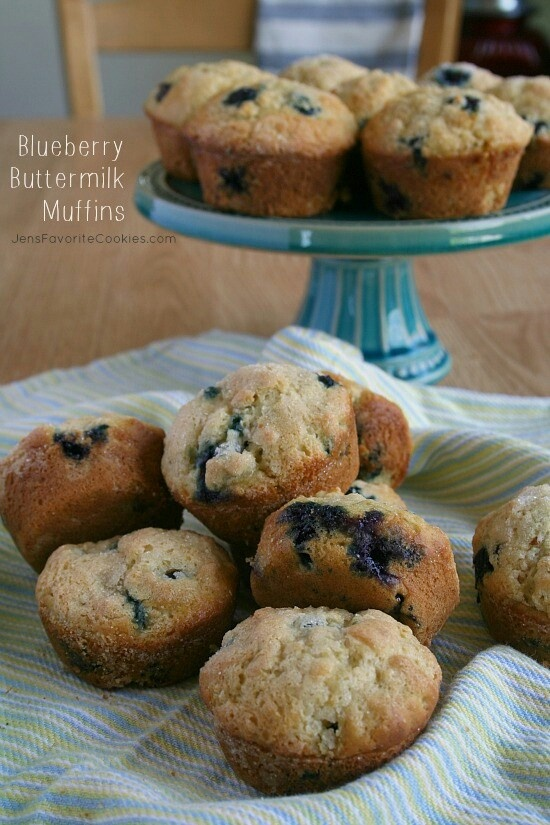 Blueberry Buttermilk Muffins Recipe — Dishmaps