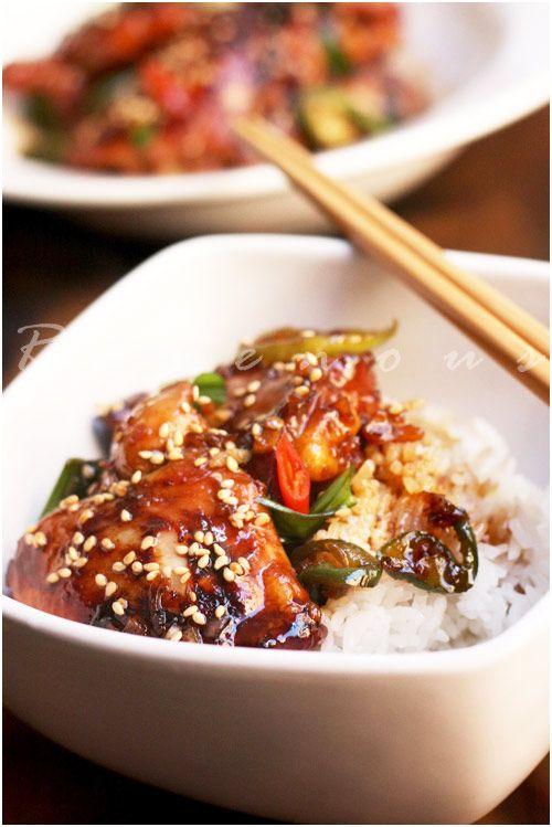 caramelized chicken | delish bites | Pinterest