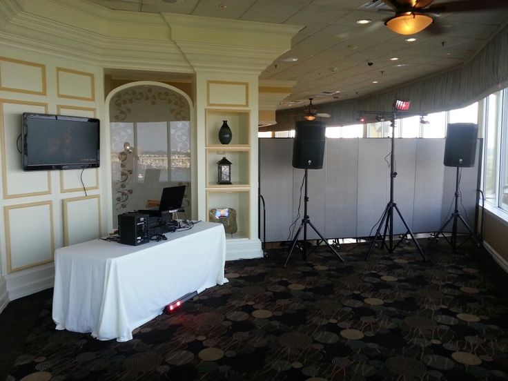 Mobile dj setup with video small room mobile dj set up for Small room 7 1 setup
