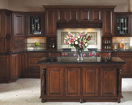 love the chocolate brown cabinets home ideas pinterest