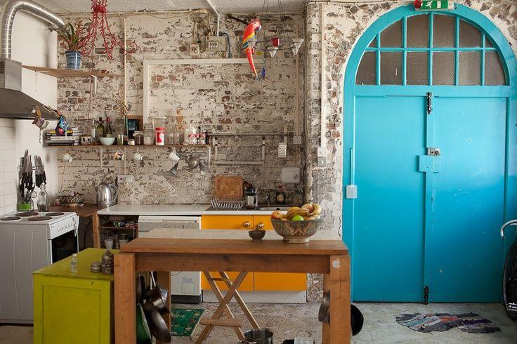 Pin by charlee barnes on warehouse studio living space for Warehouse living space