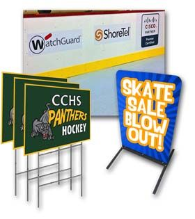 Signs for your golf tournament or other fundraising event.