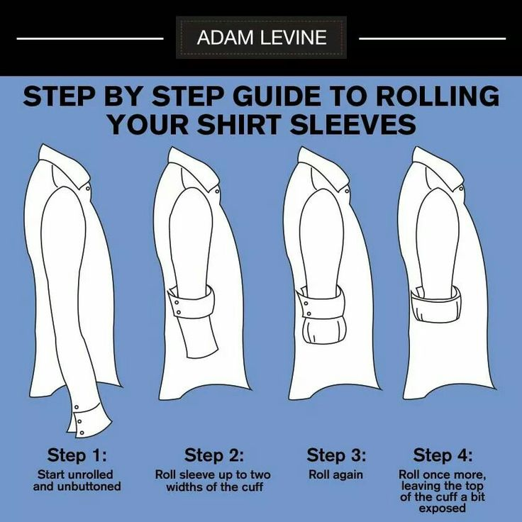 Rolling up your sleeves done right | Life Hacks! | Pinterest