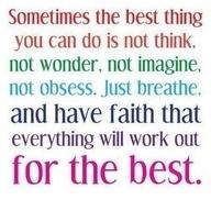 sometime you have no choice....good advice.
