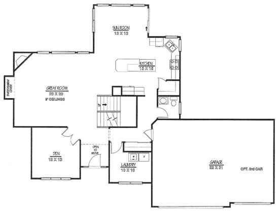 Floor plan with 3 car garage floor plans pinterest for 8 car garage plans