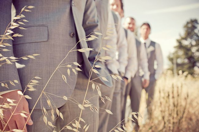 My grooms party will be wearing grey suits