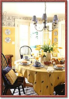 Yellow and blue dining room breakfast room inspiration - Yellow and blue dining room ...