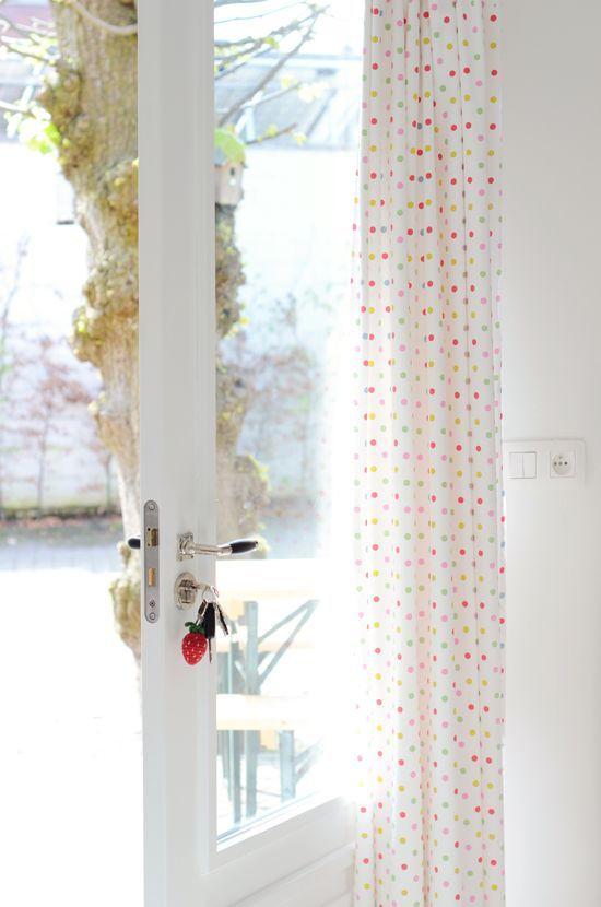 confetti curtains home decor diy Home Decor
