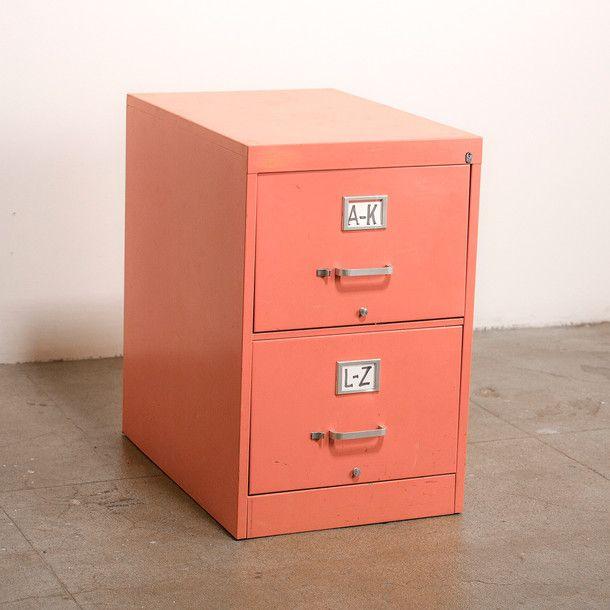 Peach File Cabinet