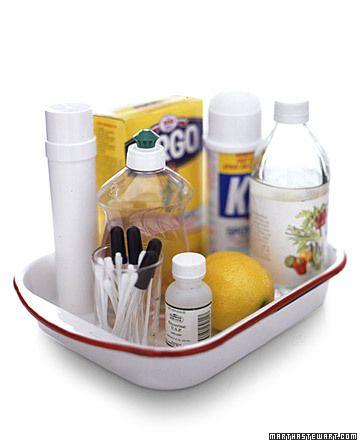 Keep a stain-treatment kit handy