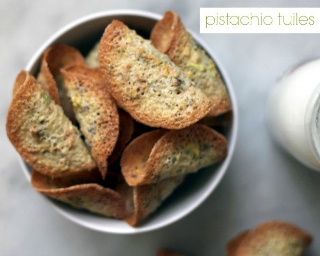 pistachio tuiles - perfect for Passover!