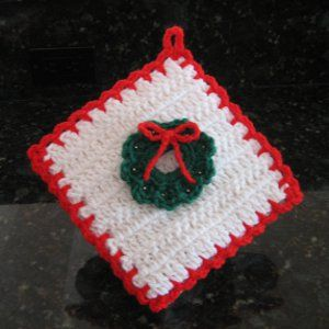 Christmas Decoration Potholder crafts Pinterest
