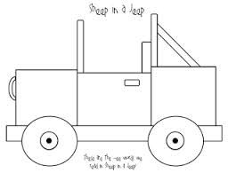 """Sheep in a Jeep"""" - jeep template 