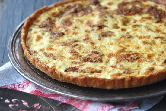 bacon amp onion tart two cheeses caramelized onions bacon in a crisp ...