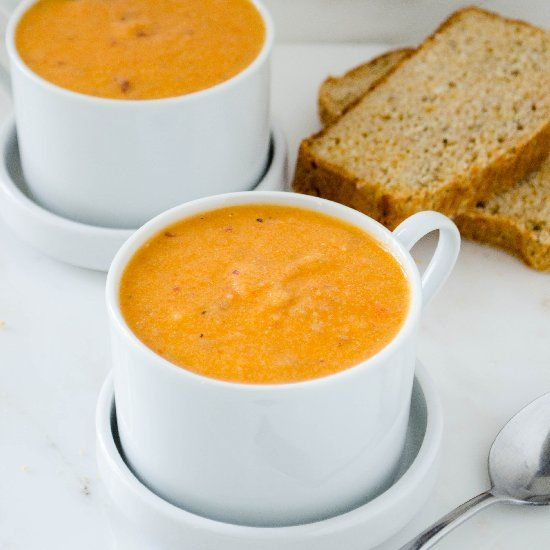 Roasted Red Pepper Potato Soup | Yummy Ideas | Pinterest