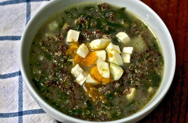 Quinoa Chowder with Cumin, Feta, and Spinach — Punchfork