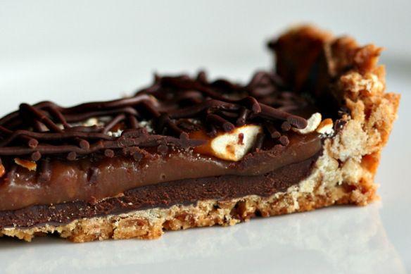 Salted Pretzel Chocolate Caramel Tart | Delish | Pinterest