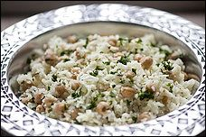 Rice Pilaf Chickpeas and Lemon - Use water instead of chicken broth ...