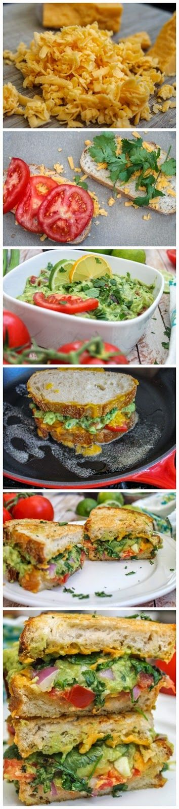 Guacamole Grilled Cheese Sandwich | Delicious Food! | Pinterest