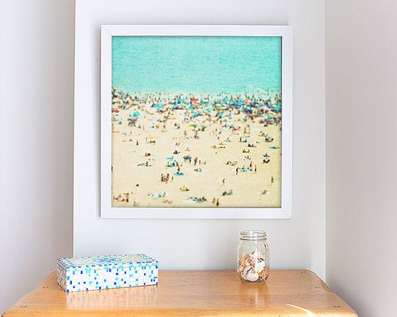 Coney Island Beach Large Scale Prints 20x20  by minagraphy on Etsy, $149.00