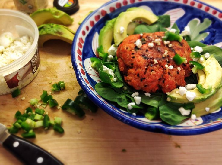 "Soy Sesame Salmon ""Burgers"" 