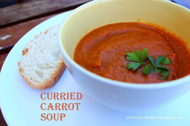 Curried Carrot Soup (in the Crock Pot) | / V E G A N \ | Pinterest