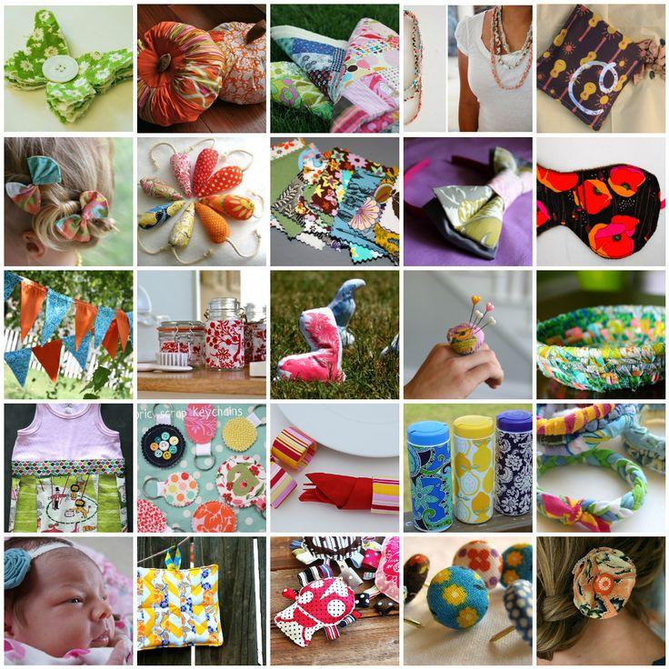 25 tutorials for fabric scraps.