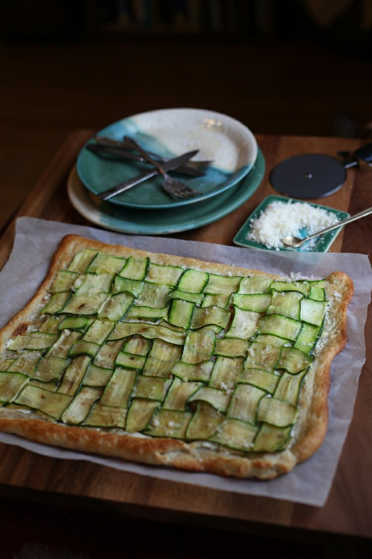 Zucchini and Goat Cheese Pizza by witandaroma #Pizza #Zucchini #Goat ...