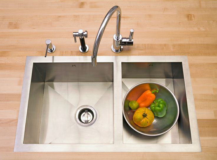 Flush Kitchen Sink : Mila double bowl flush-mount sink $1500 Kitchen ideas Pinterest