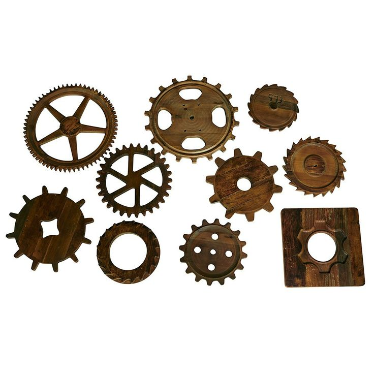 Wall Decor Gears : Decorative gear cog wall art for backyard garden