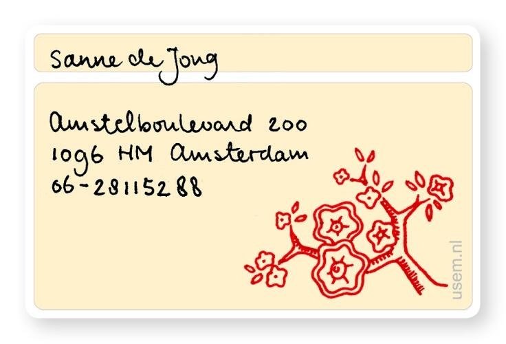 Handwritten business card for Handwritten business cards