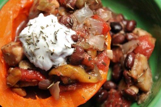 Caribbean Black Bean & Plantain Chili via The Smart Kitchen