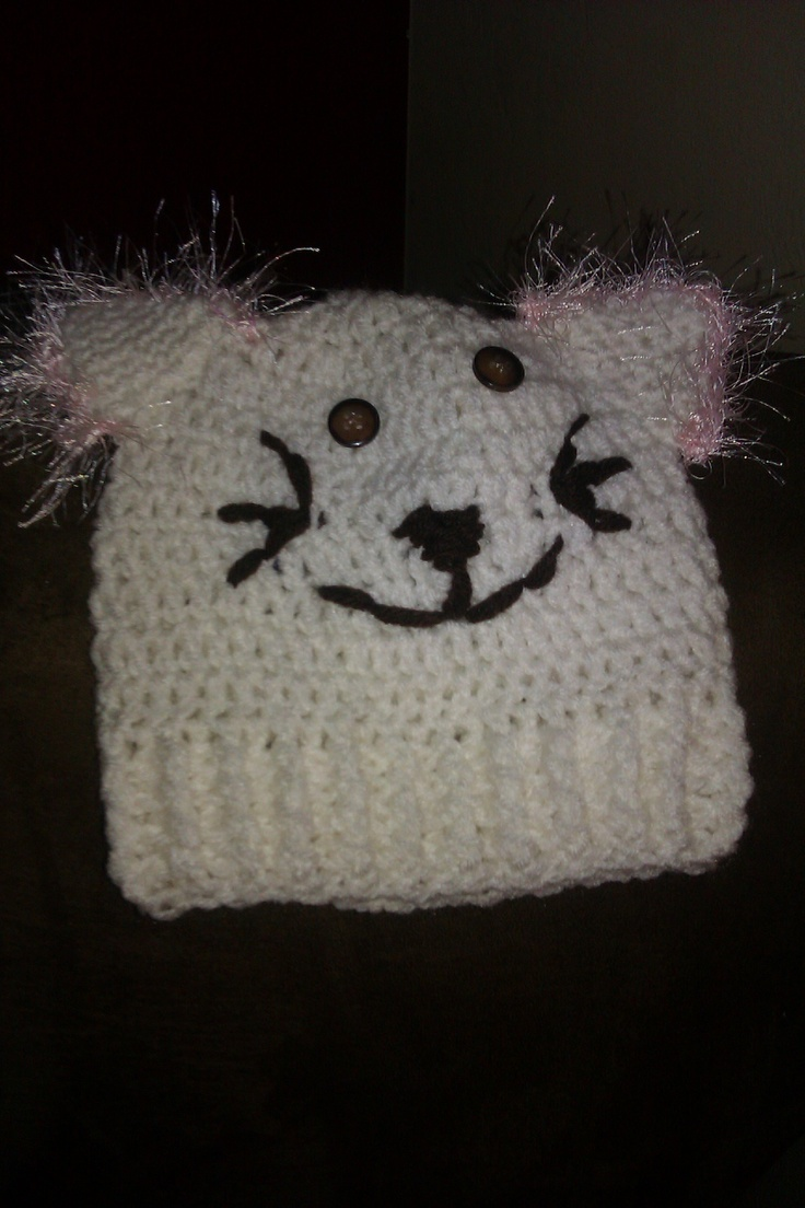Crochet Cat Hat : Cat hat crochet Crochet Pinterest