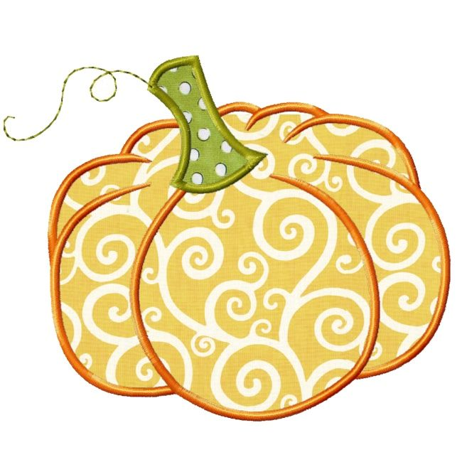 Pumpkin applique design ladybugs and lizard tails