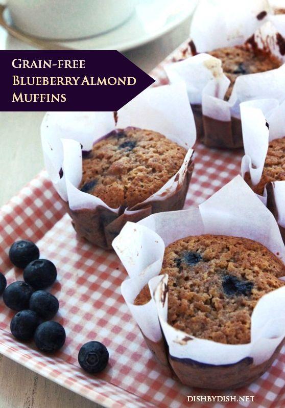 Grain-free Blueberry Almond Muffins | e a t | Pinterest