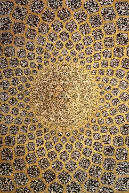 Isfahan Lotfollah mosque ceiling