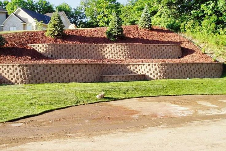 Retaining Wall Backyard Hill : retaining wall ideas  LANDSCAPING  landscape wall ideas information