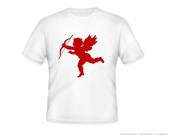 ... Cupid Valentine Silhouette Adult Tee -- personalization avail: pinterest.com/pin/80501912063373525