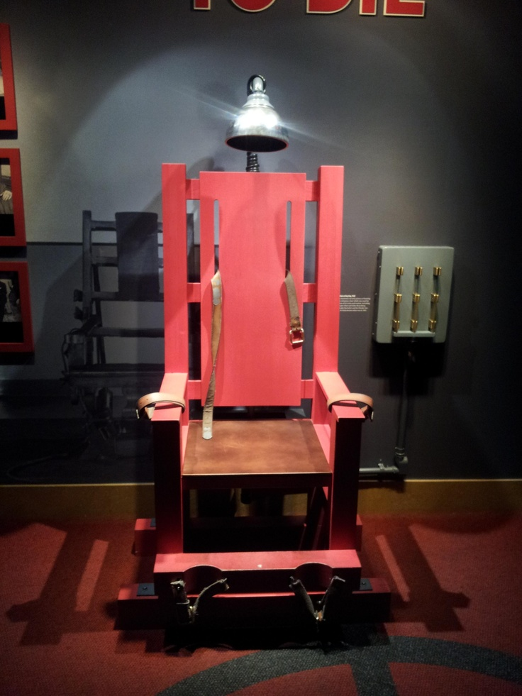 Electric chair from sing sing prison that killed many mobsters mob